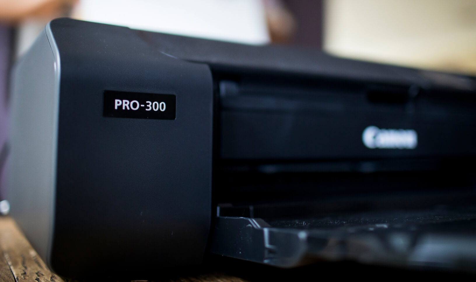 Close-up image of the Canon imagePROGRAF PRO-300 printer